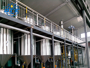 start an automatic groundnut oil processing line